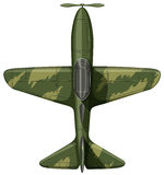 Airforce plane in green. Illustration Stock Photos