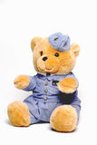 Airforce Teddy. Teddy Bear dressed in Airforce uniform royalty free stock photo