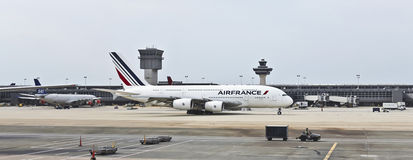 An AirFrance Airbus at Washington Dulles Stock Image