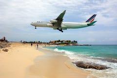 Airfrance jet landing Stock Images