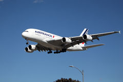 Airfrance luchtbus A 380 Stock Fotografie