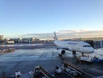 Airfrance plane docking at airport Royalty Free Stock Image