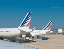 Airfrance planes in paris Royalty Free Stock Photos