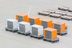 Airfreight box cargo packed and ready to be delivered. Royalty Free Stock Photos