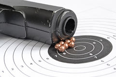 Airgun and bullets Royalty Free Stock Image