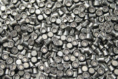 Airgun pellets background Stock Photos