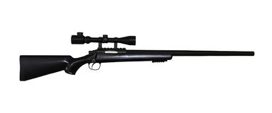 Airgun rifle isolated with clipping path Royalty Free Stock Image