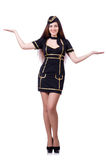 Airhostess isolated Royalty Free Stock Image