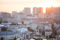 Airial view of buildings in Moscow Stock Photography