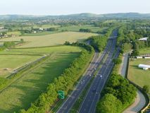 Airiel-Ansicht der Straße A23 stockfotos