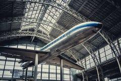 Airjet w samolotach muzealnych obrazy royalty free