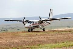 AirKenya przy Keekorok lądowiskiem, Masai Mara Obrazy Royalty Free