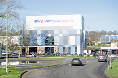 Airkix som hoppar med fritt fall, Basingstoke Arkivfoton