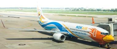 Airlane Nokair готовое для того чтобы обслуживать стоковые фото