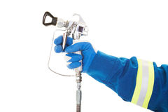 Airless Spray Gun stock photography