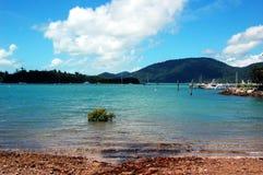 Airlie海滩江边,昆士兰,澳大利亚 图库摄影