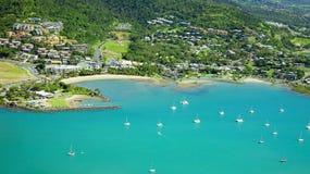 Airlie海滩Whitsundays澳大利亚 免版税图库摄影