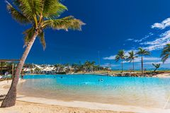 AIRLIE BEACH, AUS - SEPT 20 2017: Sunny day the lagoon in Airlie Royalty Free Stock Images
