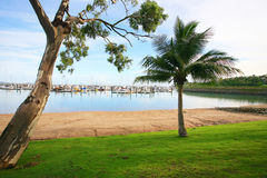 Airlie Beach marina. In the Whitsundays, Queensland Australia Stock Photo