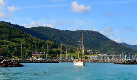 Airlie Beach port. Picture of Airlie Beach port on 27 december 2013 Stock Images