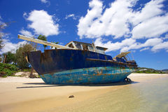 Airlie Beach shipwreck. A boat shipwrecked at Airlie Beach in Australia Stock Photography