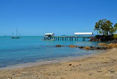 Airlie strand, Queensland, Australien Arkivfoton