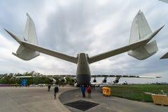 Airlifter strategico Antonov An-225 Mriya da Antonov Airlines sull'aerodromo Fotografie Stock