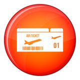 Airline boarding pass icon, flat style Royalty Free Stock Images