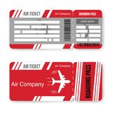 Airline boarding pass ticket template. Isolated on white background. Vector illustration. Eps 10 royalty free illustration