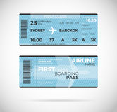 Airline boarding pass ticket Vector illustration. Airline boarding pass ticket for First class template. Vector Plane ticket illustration. Ticket Pass Card Stock Photo