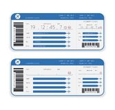 Airline boarding pass ticket. Vector airline boarding pass ticket isolated on white background Royalty Free Stock Images