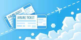 Airline boarding pass tickets. Concept of travel, journey or business. Vector illustration vector illustration