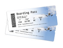 Airline boarding pass tickets isolated on white Stock Photos