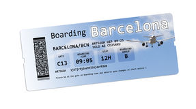 Airline boarding pass tickets to Royalty Free Stock Photos