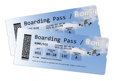 Airline Boarding Pass Tickets To London Isolated On White