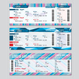 Airline boarding pass tickets vector template Stock Photo