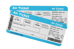 Airline boarding pass tickets Royalty Free Stock Images