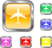 Airline Button. This is an Airline symbol button for use in designs Royalty Free Stock Image