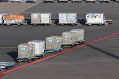 Airline containers Royalty Free Stock Photos