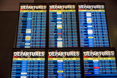 Airline Departure Board Stock Photography