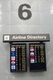 Airline Directory Stock Photo