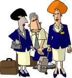 Airline Flight Attendants Stock Photos