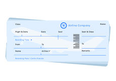 Airline flight ticket vector Royalty Free Stock Photo