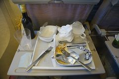 Airline food consumed Stock Photos