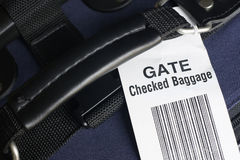 Airline gate checked baggage. Stock Images