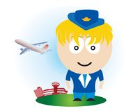 Airline girl Stock Photo