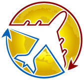 Airline logo. Isolated art work of airline logo Stock Photo