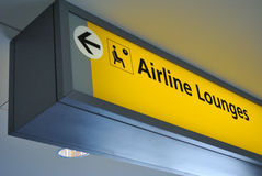 Airline lounge sign Royalty Free Stock Image