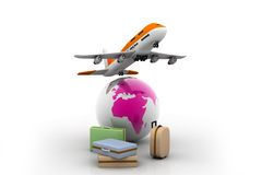 Airline and luggage's Stock Images