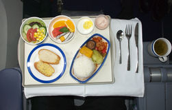 Airline meal. A shot of business class airline meal royalty free stock photography